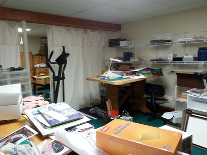 Craft area before corting and organizing